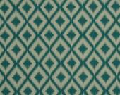 Turquoise Ikat Upholstery Fabric - Woven Geometric Heavyweight Material for Furniture - Turquoise Ikat Pillow Covers - Kitchen Chair Ikat