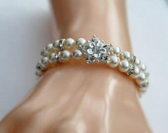 Wedding Bridal Bracelet Pearl Diamante Rhinestone Bracelet Wedding Jewellery Bridesmaid Bride Maid Og Honour