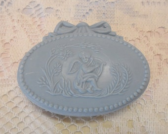 Vintage Avon Guest Soaps Avonshire Blue Hostess Fragranced Soaps Shabby Chic Cottage Chic Cherubs