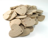 """Unfinished Wood Hearts with Holes - Birthday Board Tags - 1.5"""" (3.8cm) Heart Pendant"""