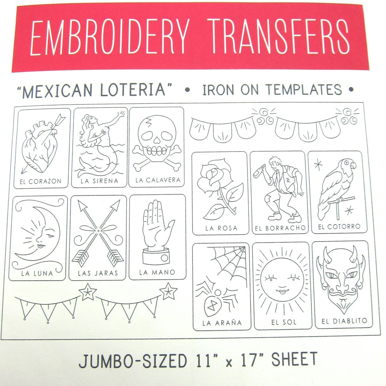 Embroidery pattern sublime stitching iron on transfer hand embroidery pattern sublime stitching iron on transfer hand embroidery pattern mexican loteria big sheet bankloansurffo Gallery