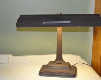 Desk Lamp Cast Metal Table Library Lamp Art Deco Office