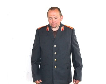Soviet Militia Uniform Jacket Soviet Vintage Policemans Jacket and Pants size M, Mens Clothing Collectibles USSR Halloween Costume