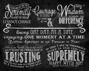 ChalkTypography  - The Serenity Prayer (full version)