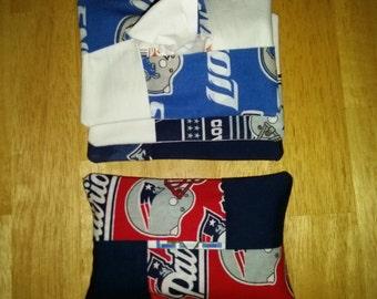 NFL Tissue Holder/ Purse Tissue Holder/ Patriots/ Fabric Tissue Holder