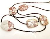 Jasper Breccia bead necklace