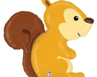Brown Woodland SQUIRREL Baby Shower Birthday Party Balloon
