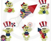 2015 Froggys 4th Clip art  Clipart Graphics  Commercial Use