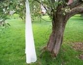 Custom Fingertip Length Chiffon Wedding Veil Made to Order Mantilla Pencil