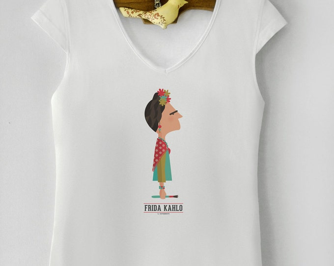 """Camiseta de mujer """" Frida Kahlo """"."""