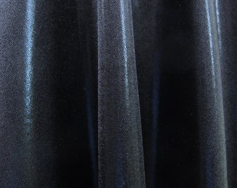 Nylon lycra fabric spandex stretch material BLACK  - Mystique metallic 1/2 yard X 56 inches wide