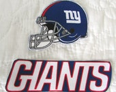 "New York Giants ""NO SEW"" Appliques"