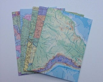 Vintage Atlas Upcycled envelopes