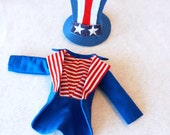 Patriotic Jacket and Top hat for Christmas Elf