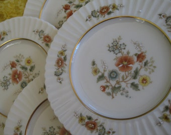 Lenox Temple Blossom Salad Plates Brand NEW old stock, Temple Collection Gold backstamp, Set of 4 included