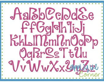 INSTANT DOWLOAD 1055 Cake Pops Font bx, dst and pes only digital design for embroidery machine by Applique Corner