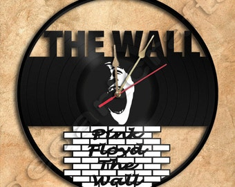 Wall Clock Pink Floyd The Wall Theme Vinyl Record Clock Upcycled Gift Idea