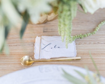 Rustic Place Cards on handmade paper