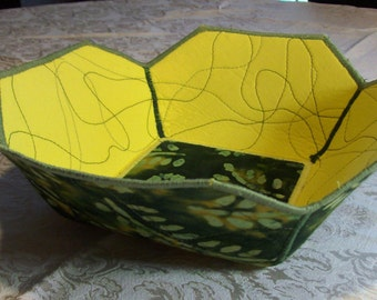 Reversible Square Fabric Bowl