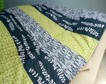 "Baby Play Mat Padded Floor Blanket Personalize Green Gray Modern Quilt Boys Girls Tummy Time Newborn Gift Baby Shower Nap Mat 35"" x 35"""