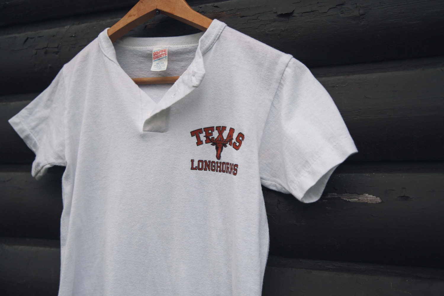 Vintage texas longhorns baseball t shirt henley womens extra for Texas baseball t shirt