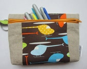 Helicopter Pouch in organic cotton and linen