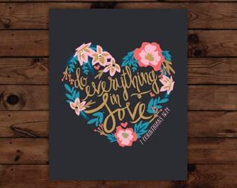 1 Corinthians 16:14 Print