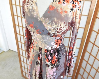 Vintage 70s Palazzo Pant Jumpsuit in Monet Floral of Jersey Knit by Mr Bob of California NWT