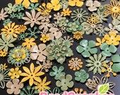 FG-FG-090SF- Nickel free, Color enameled, Sampler set of flower filigree,Grassland mix, 48 pcs