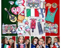 Italy Photo Booth Props - perfect for your Italian party, to celebrate the Italian heritage and culture or if you just love Italia