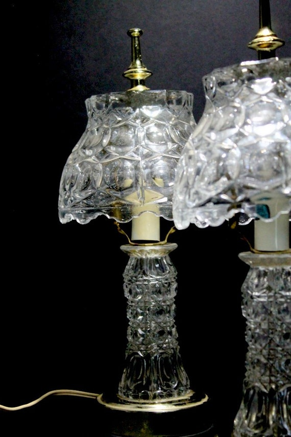 crystal lamps gilbert bedroom boudoir pressed glass accent lamps