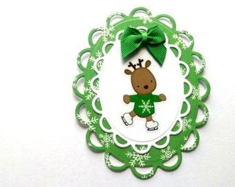 Baby Reindeer Christmas Card - First Christmas Card - Reindeer Card - Christmas Card