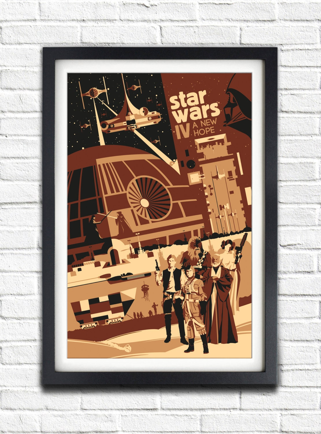 Star Wars IV A New Hope 19x13 Poster by bensmind on Etsy