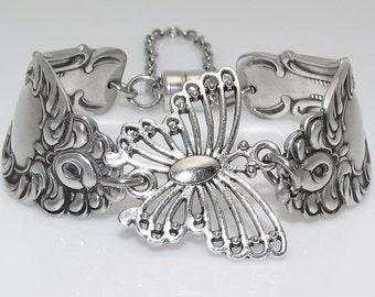 Filigree Butterfly Ornate Satin Finish Spoon Bracelet