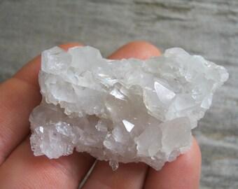 Baby Raw Quartz Crystal Cluster, Meditation Stone, Druzy Quartz Crystal Healing, Elestial Crystal, Chakra Crystal, 54mm x 35mm, QS7