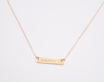 Gold serenity necklace