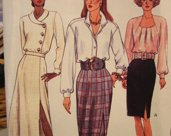 Vintage Vogue Pattern 8427 Very Easy Skirt Pattern Size 8-10-12 Misses Petite