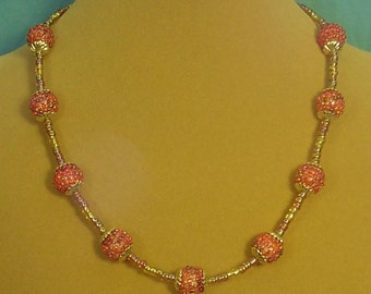 "Sparkling 18-1/2"" Necklace to accentuate your outfit!  - N299"