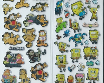 Japanese / Korean Stickers (Pick 1):  Garfield or  Spongebob