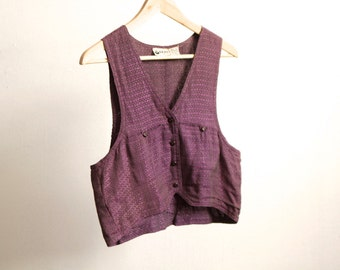 vintage GRUNGE purple club kid VEST tank top