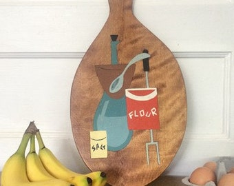 Vintage Hand Painted Cutting Board