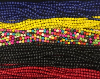 8mm howlite round beads