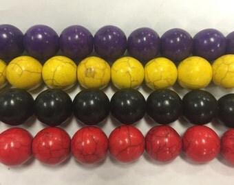 16mm howlite round beads, 24beads