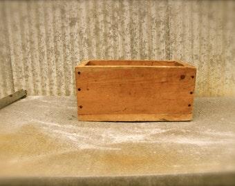 Vintage Handmade Wood Box Primitive Box Wooden Tool Box