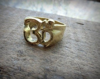 Hindu Brass OM Ring