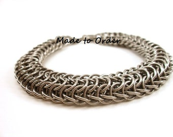 Chainmail Bracelet Large Stainless Steel Made to Order