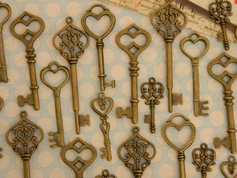 Wholesale 18 Romantic Alice In Wonderland Skeleton Keys