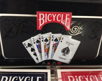 Bicycle Playing Cards in Tin