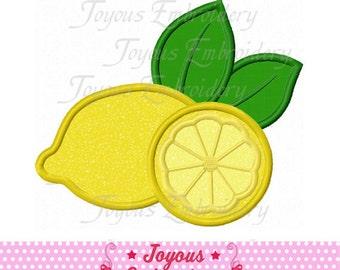 Instant Download Lemon Applique Embroidery Design NO:1523