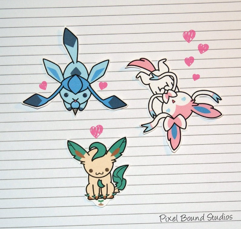 Eevee Evolutions Stickers And Magnets By Pixelboundstudios